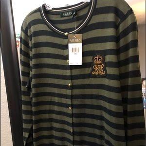 Ralph Lauren Striped Cardigan sweater size 1X